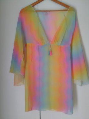 Blouse transparente multicolore synthétique