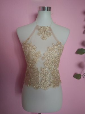 Halter Top gold-colored-sand brown