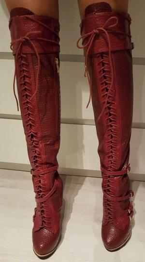 Botas sobre la rodilla multicolor Sintético