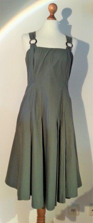Vestido corsage verde oliva Algodón