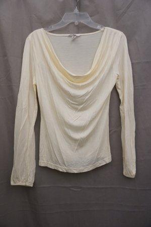 NEU: traumhaftes Shirt H&M, Bluse, creme, langarm, Gr. S, Wasserfall, NP 30€