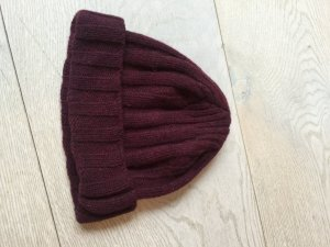 Woolrich Knitted Hat carmine wool