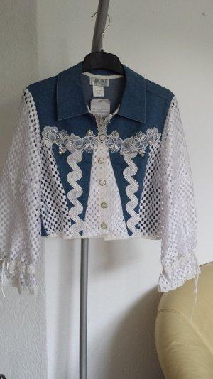Neu True Vintage Jeansjacke Unikat Paris Maick Harold gr 38 Jacke Spitzenjache