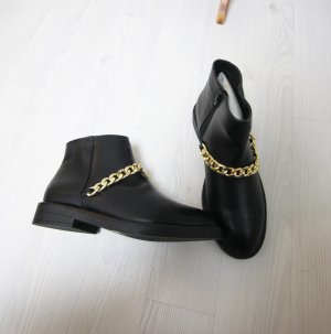 Slip-on Booties black-gold-colored