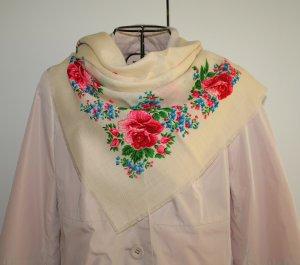NEU Tuch mit russischem Blumen Muster - Pawlow Posad Style