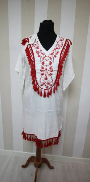 Tunic Dress white-red
