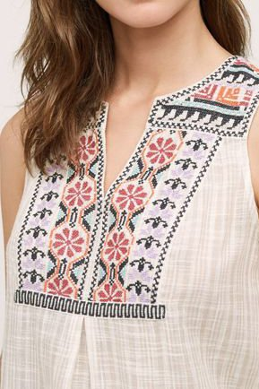 neu Tunika S 36 Stickerei Tank Top Boho Layering Anthropologie