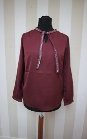 b.p.c. Bonprix Collection Shirt Tunic silver-colored-blackberry-red