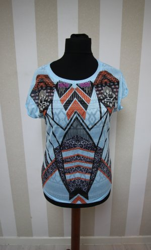 Shirt Tunic black-light blue