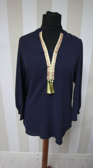 Shirt Tunic dark blue-gold-colored