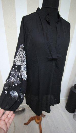 Tunique noir-argenté