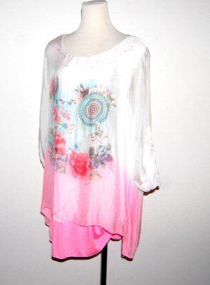 Made in Italy Shirt Tunic multicolored silk