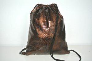 School Backpack black-bronze-colored