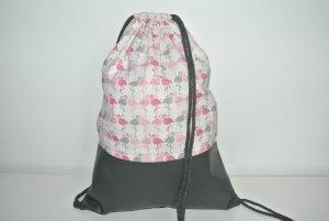 Zaino per la scuola grigio-rosa