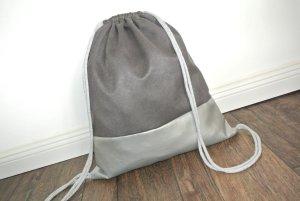 Zaino per la scuola argento-grigio