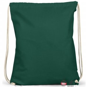Sac en toile vert foncé coton