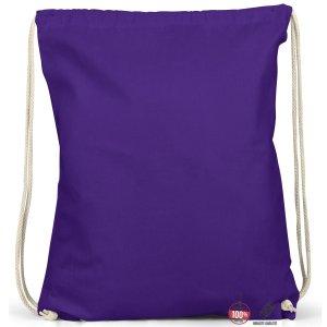 Sac seau violet foncé coton