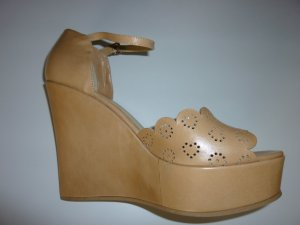 *Neu*TWIN-SET Leder Sandalen beige