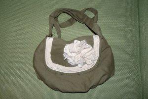 NEU* Umhängetasche khaki mit Blume