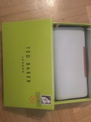 Neu und originaverpackt: Hochwertiges Portemonnaie von Ted Baker, hellgrau mit roségold