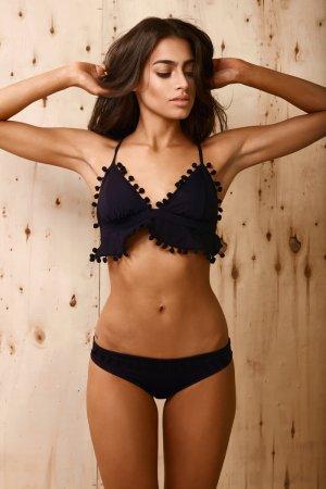 NEU & UNGETRAGEN - Bikini PROVIDENCIA, schwarz, handgemacht, Größe S