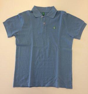 Neu, ungetragen Blaues Polo Shirt von Benetton in groß 11/12 Jahre.