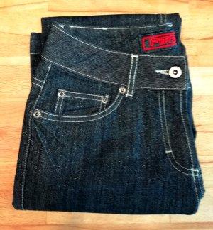 FitZ Pantalone cinque tasche blu Tessuto misto