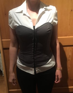 Guess Blusa de manga corta blanco-gris antracita Algodón