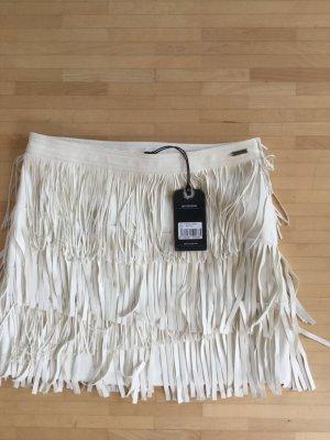 Neu&ungetragen: Kunstlederrock mit Fransen, PepeJeans, L (38/40), letzter Preis