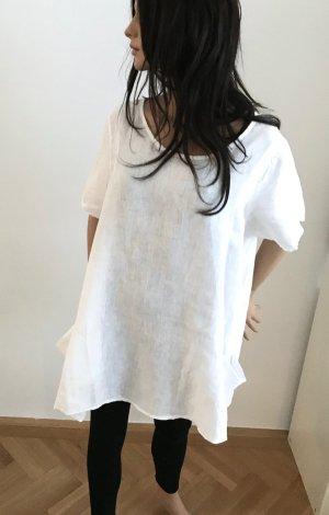 Neu, ungetragen! Langes XL Leinen-Shirt mit großen Taschen