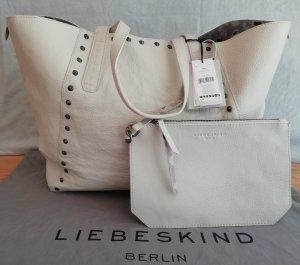 Liebeskind Berlin Shopper white-light grey leather