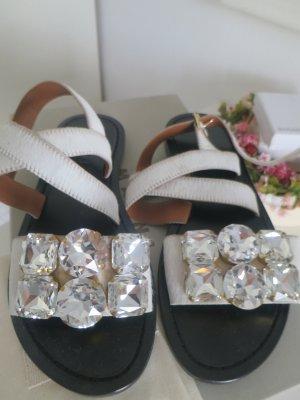 Marni Sandalo con cinturino bianco Pelle