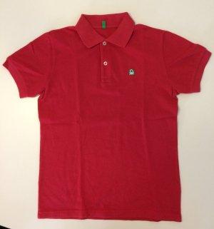 Neu, ungetragen Rotes Polo-Shirt von Benetton in groß 2XL-11/12 Jahre.