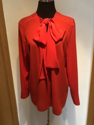 St. emile Tie-neck Blouse red polyester