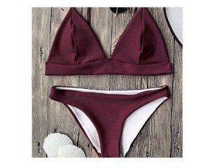 NEU + UNGETRAGENER triangel Bikini Burgund S/M
