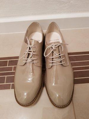 NEU Vagabond Halbschuhe Schnür Schuhe Lack Beige Nude edel schick Gr. 37
