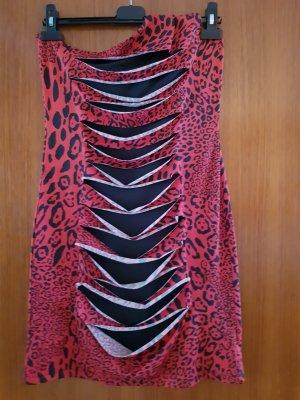 Melrose Eénschouderjurk zwart-rood