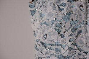 -NEU- Vera Mont Abendkleid, türkis mit weißer Spitze