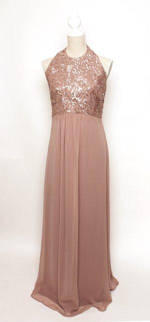 NEU Vera Mont VM Abendkleid Abikleid Kleid rosa rose pastell Pailetten Tüll 38 m