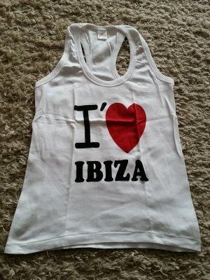 NEU Verkaufe neues Top in weiß mit Aufschritt  I love Ibiza Gr. M