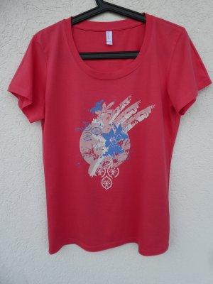 NEU – Vero Moda – Damen T-Shirt, lachs-pink mit Aufdruck