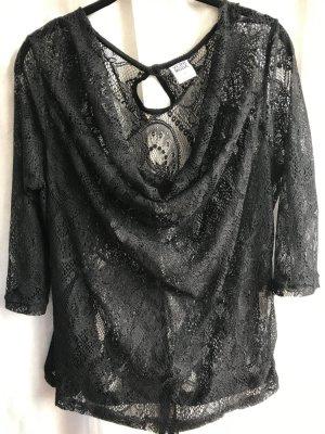 Vero Moda Blusa in merletto nero Cotone