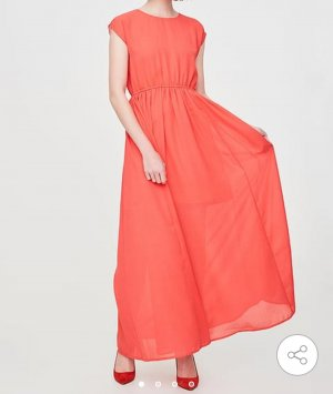 NEU Vero Moda Kleid Party Maxikleid Büro Sommerkleid Gr S 36 Maxi Abendkleid rot