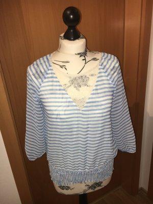 Neu Vero Moda Top Bluse Tunika luftig dünn Gestreift s spitze