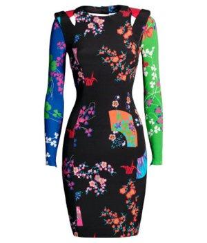 Neu! Versace for H&M Kleid Japan Blogger Streetstyle Cocktailkleid schwarz