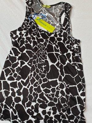Versace Top spalle scoperte bianco-nero