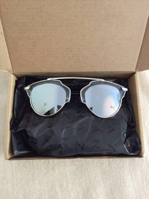 NEU verspiegelte Sonnenbrille silber Spiegelbrille Festival so real lookalike