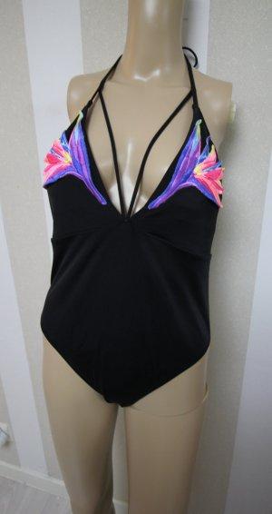 Victoria's Secret Zwempak zwart-roze