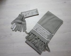NEU Victoria´s Secret Herbst / Winter Set 3 Teile Handschuhe Schal & Stirnband