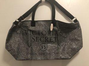 Victoria's Secret Borsa da viaggio argento-nero